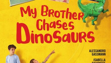 My brother chases dinosaurs - plakat